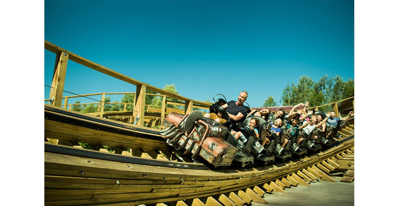 photo de l'attraction Timber au parc Walibi Rhône-Alpes