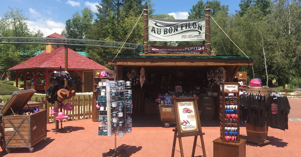 photo de la boutique au bon filon au parc Walibi Rhône-Alpes