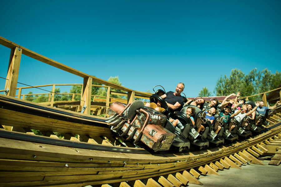 photo de l'attraction Timber à Walibi Rhône-Alpes